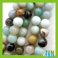 natural luster round amazonite gemstone beads for jewelry making