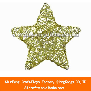 New design Iron wire Christmas star ornament
