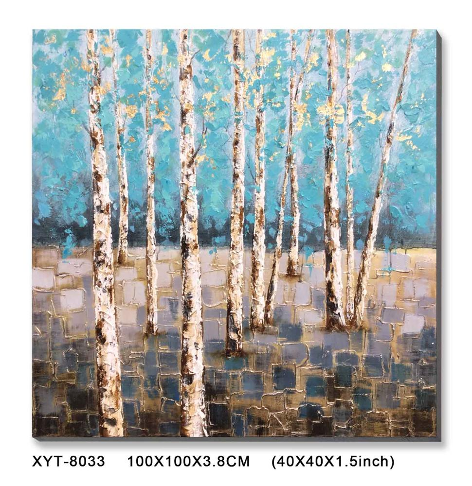 Modern Custom Abstract Tree Oil Painting Handpainted Stretched Wall <strong>Art</strong>