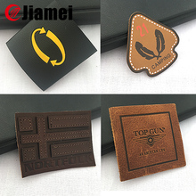 Hot selling custom embossed effect patch leather label