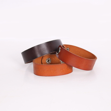Well crafted custom logo mens engraved leather bracelets for anniversary