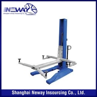 Unique style trade assurance one post hydraulic cylinder car lift