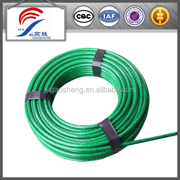 PVC/PE/PP coated steel cable wrie rope for sale