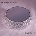 2018 decoration crystal metal cake stand wedding ,crystal cake decoration,cake stand wedding decoration (CAKE-019)