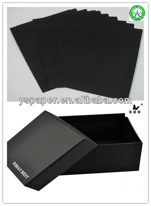 C2S Black coated paper for black paper box