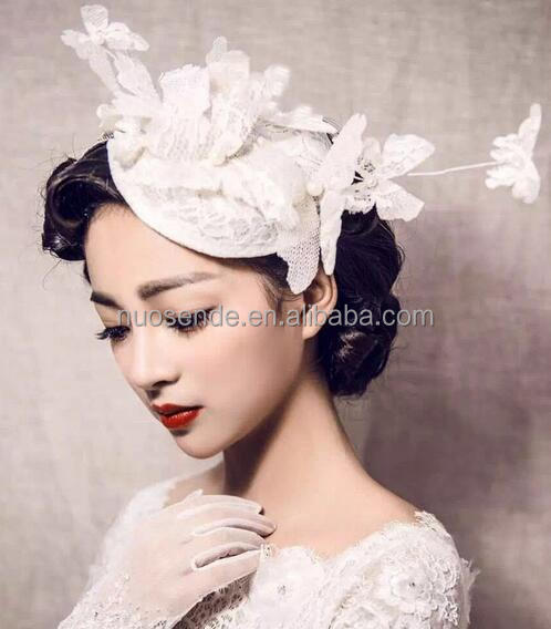 Fashion vintage white bride hair accessories Wholesale Fascinators and hats
