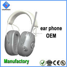 Wholesale OEM Over ear noise cancelling hand free safety wired headset