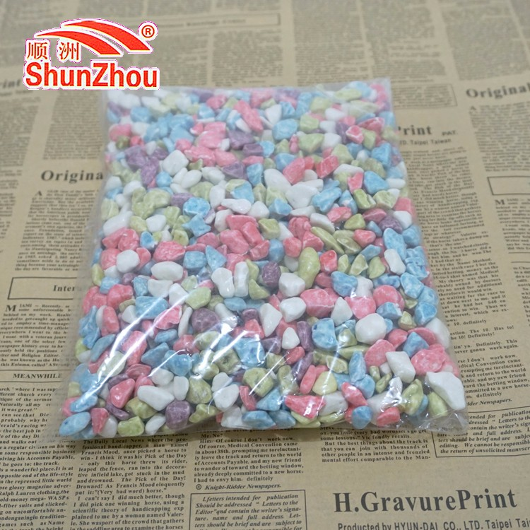 1000g bag package colorful chewy milky stone candy