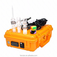 Waterproof e nail kit E dab nail Quartz nail 14/18mm male female MINI TEMPERATURE CONTROL BOX newest coil heater 19.8mm in stock