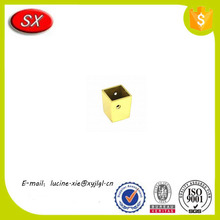 OEM furniture hardware precision brass metal caps for furniture legs