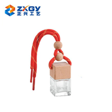High Quality 5ml Round Bottle Beech Wooden Cap Car Perfume Hanging