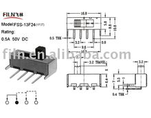 Slide Switch FSS-13F24 ( dip slide switch , miniature slide switch, mini slide switch)