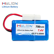 Batteries 14500 lithium ion 7.4V 750mah 2S1P battery pack