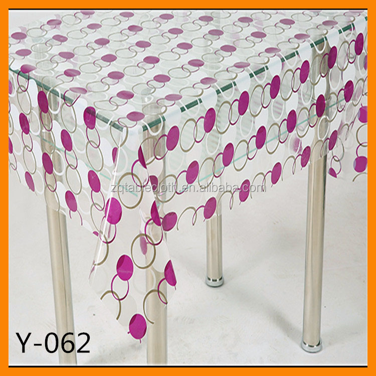 pvc wholesale plastic fabric printed tablecloth