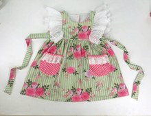 Lovely kids clothes summer floral pattern girl frock design baby lace dress