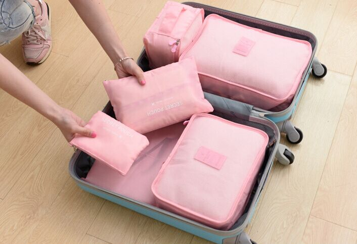 6 Set Packing Cubes,Travel Luggage Packing Organizers with Laundry Bag