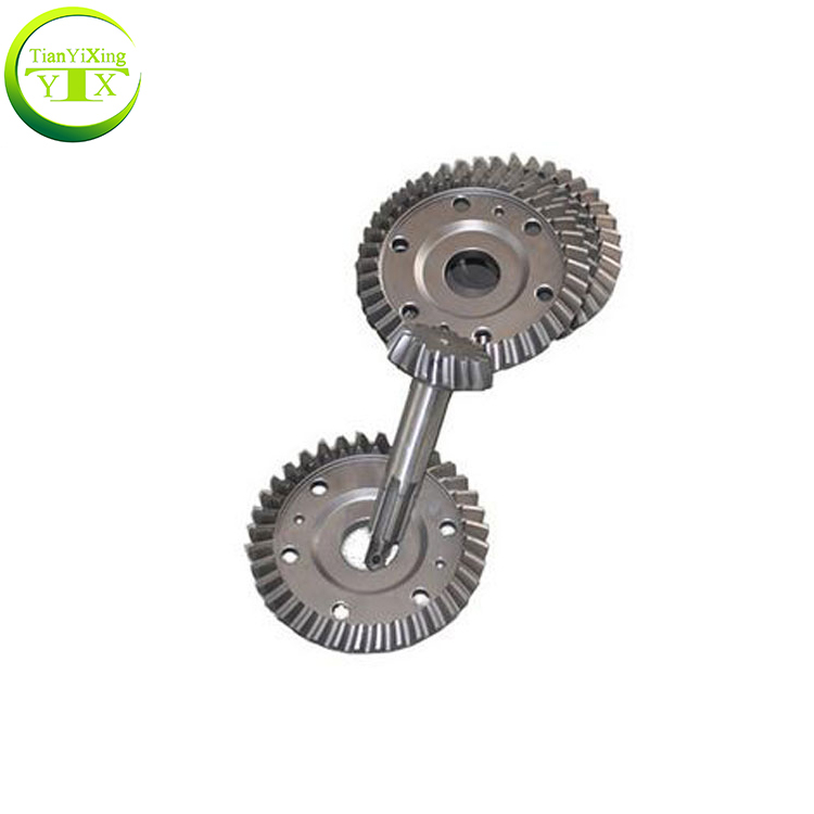 China Supplier Tricycle Crown Wheel Pinion Spiral Bevel Gear For Motor