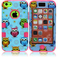 Cute Owl Camo Hybrid Impact Rubber Matte Hard Case Cover For iPhone 5C