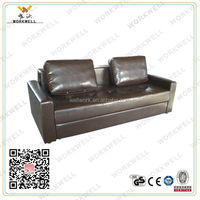 WorkWell most popular pu black leather sofa bed Kw-Fu67