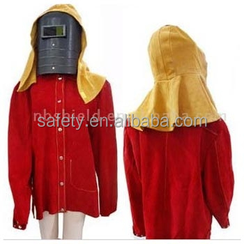 Cow Split Leather Mantle Welding Protective Clothing Welding Clothes Welder Safety Jacket