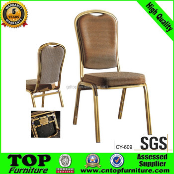 Newest elegant modern stacking comfortable aluminum banquet chair