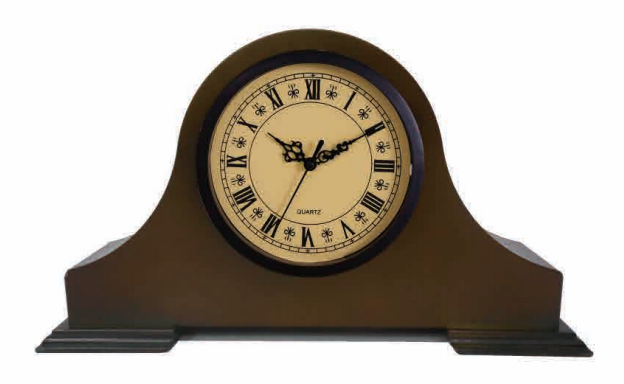 MDF wood home decor table clock