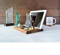 Wooden Bamboo Docking station Desk Organizer Universal tablet PC Holder Mobile Base Wooden Watch Holder Cell Phone Holder