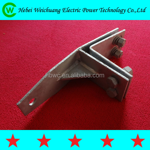 Galvanized Steel Fiber Straight Splint Fastening Clamp for Corner Tower