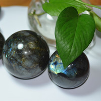 Natural polished labradorite stone sphere crystal ball