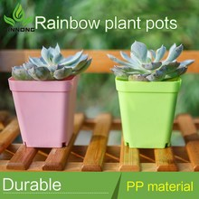 hotel colorful square modern style plastic outdoor green plants flower pots wholesale