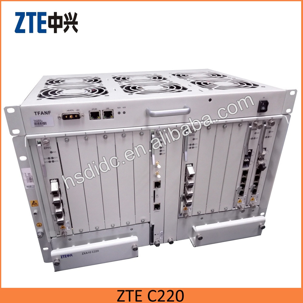 Gigabit Passive Optical <strong>Network</strong> terminal zte c220 c320 c300 4 port OLT gpon