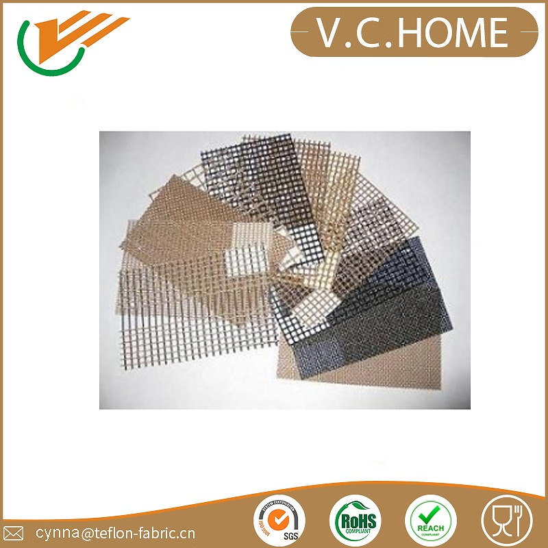 Hot Sale PTFE coated fiberglass fabric teflon bbq liner