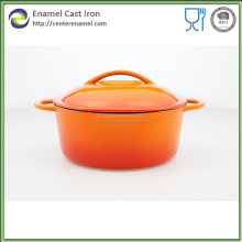 Commichef kitchen cookware round cast iron cocotte with enamel coating