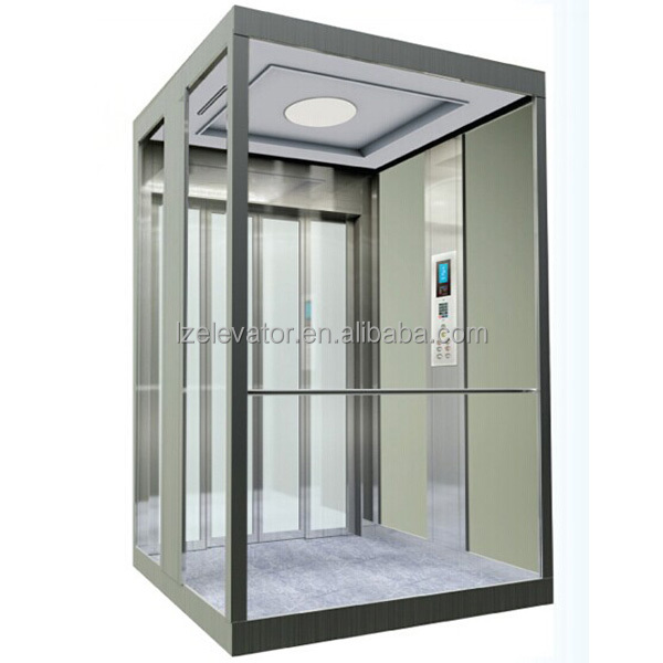 Small Elevators For Homes With Glass Cabin Wall View