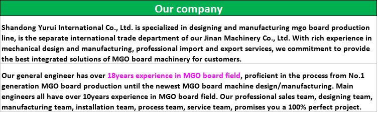 experience magnesium production line/automatic mgo board machine with factory price