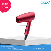 Dull polish red color hot sale super silent foldable hair dryer