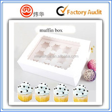 high quality custom healthy material muffin cup cake packing paper box with window