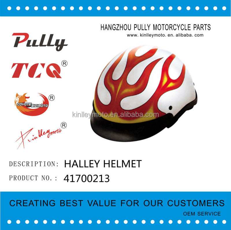 Novetly helmet Halley helmet half face beautiful motorcycle helmet made in china