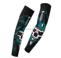 High quality custom printed polyester stretch arm sleeves for sports