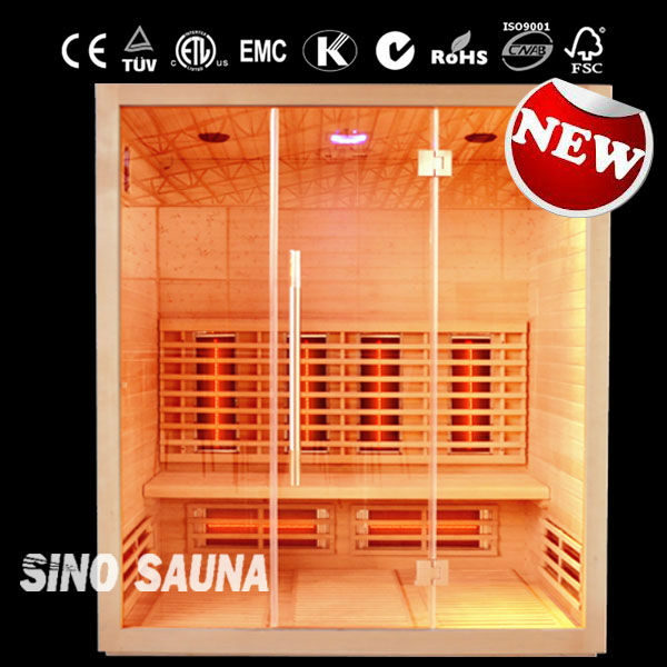 Hot sell full spectrum red glass heater far infrared sauna cabin