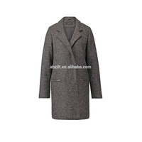 Custom Women Rabbit Fur Grey Long Coat