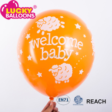 welcome baby 12'' machine to inflate balloons printed latex balloons