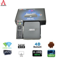 HOT and FAST selling Quad Core S812 2g Ram 8g Rom 4k HD ott smart tv box M8 Upgraded to android tv box M8s