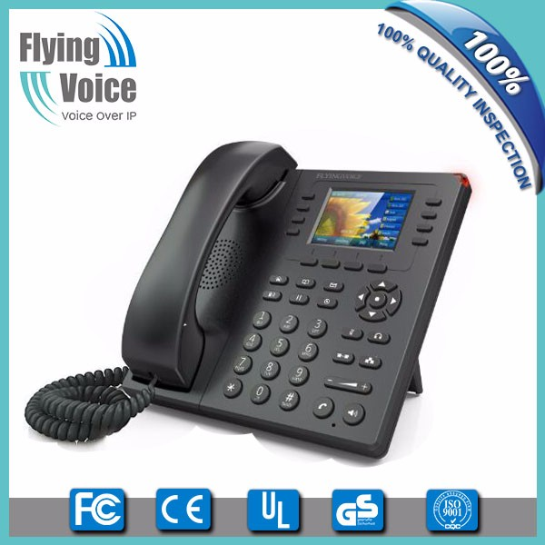 low cost ip telefon HD voice sip phone with 8 sip accounts, 1 USB port FIP11W