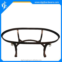 Antique lion head tiger claw oval-shaped coffee table