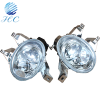 Factory wholesale automobile parts 12-24vlt led fog lights with lens for peugeot 206