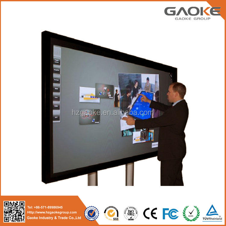 "65"" 70"" 84"" inch 1080P 4K Ultra HD OEM infrared LED touch screen interactive flat panel,support dual system."