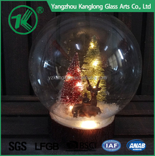Glass Christmas Ball Light Ornaments with David's Deer and Tree Decoration