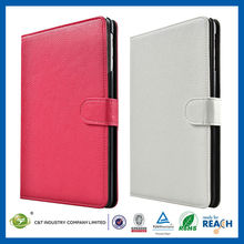 C&T Simple color wallet protective leather belt clip case for ipad mini with stand