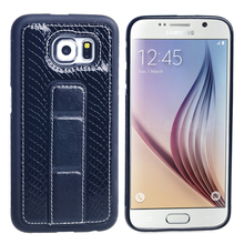 Factory Leather Back Case with Stand Function for Samsung S6